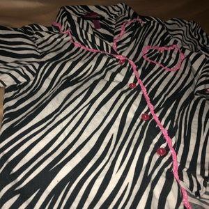 Betsey Johnson Intimates & Sleepwear - Betsy Johnson zebra print pj set